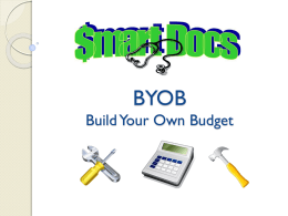 BYOB Build Your Own Budget - University of Missouri School