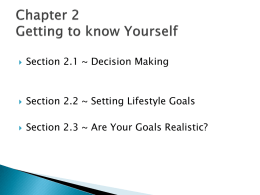 Chapter 2 Getting to know Yourself