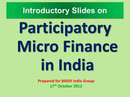 Participatory Micro Finance and Interest – Free System