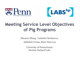 Performance Modeling and Optimization for Pig program