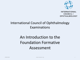 International Council of Ophthalmology (ICO)