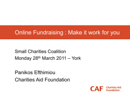 Online Fundraising : Make it work for you