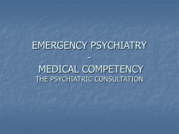 EMERGENCY PSYCIATRY - Stanford University