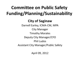 Committee on Public Safety Funding/Planning/Sustainability