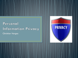Personal Information Privacy