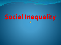Social Inequality true/false