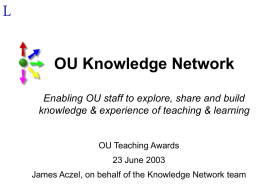 IET's Knowledge Network