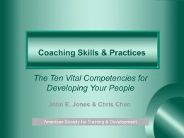 Coaching Skills & Practices