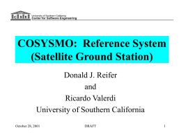 COSYSMO: Reference System (Satellite Ground Station)
