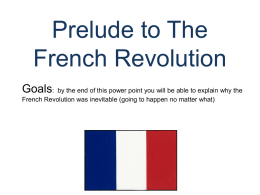 The French Revolution of 1789 PowerPoint Presentation