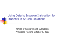Importance of Improved Instructional Services for Students