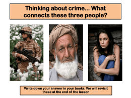 Thinking about crime... What connects these three people?