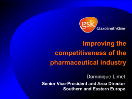 Improving the competitiveness of the pharmaceutical industry