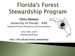 Florida's Forest Stewardship Program