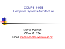 0657.311A Computer Systems Architecture