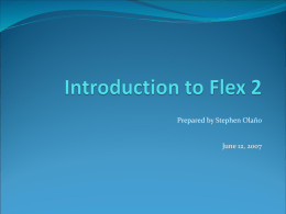 Introduction to Flex 2