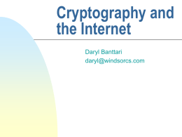 Cryptography and Internet