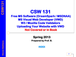 Introduction to CSC110 - West Chester University of
