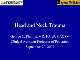 Approach to Head Injury in the Athlete