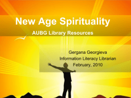 The Bible as Literature AUBG Library Resources