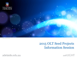 2014 OLT Seed Grants Information Session
