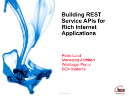Building REST Service APIs for Rich Internet Applications