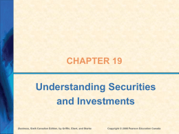 ch 19 - Securities and Investments