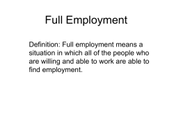 Full Employment - PEGSnet