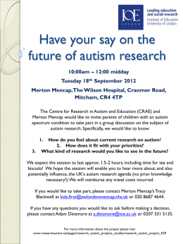 Autism Research What are your priorities?