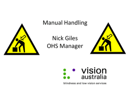 manual handling - Disability Safe