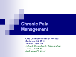 Chronic Pain Management