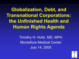 Social Rights and Globalization
