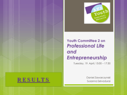 Youth Committee 2 on Professional Life and Entrepreneurship