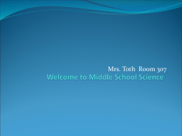 Welcome to Middle School Science!
