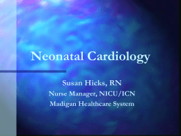 Clinical Update on Congenital Heart Defects