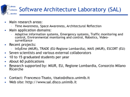 Software Architecture Laboratory (SAL)