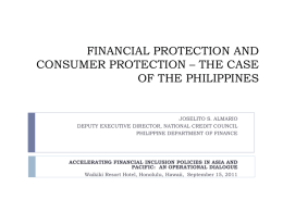 CONSUMER PROTECTION IN THE PHILIPPINES