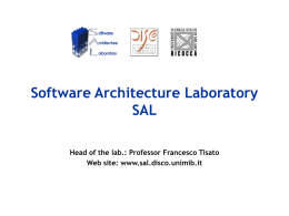 Software Architecture Laboratory SAL