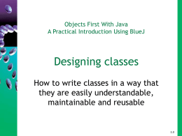 Objects First With Java - Chapter 7