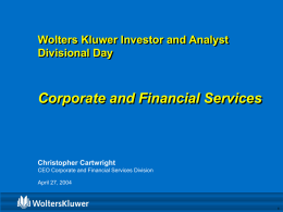 Corporate & Financial Services Division Analyst & Investor