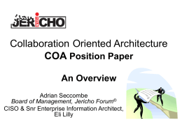 Collaboration Oriented Architecture Position Paper
