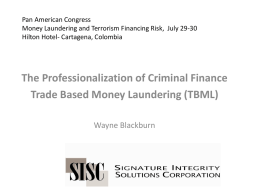 Pan American Congress Money Laundering and Terrorism