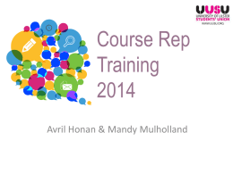Course Rep Training - University of Ulster Students' Union