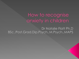 How to recognise anxiety in children