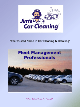 The Trusted Name in Car Cleaning & Detailing""