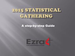 2014 Statistical Gathering - The Mississippi Annual