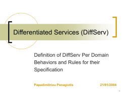 Differential Services - Riga Technical University