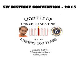 SWD Convention - Southwest District Kiwanis