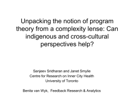 Unpacking the notion of program theory from indigenous and