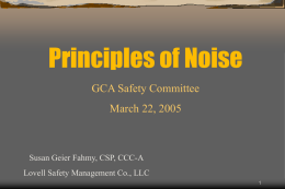Principles of Noise Analysis